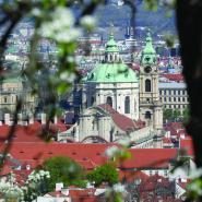 Pohled na Chrám sv. Mikuláše, Praha